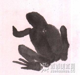 儿童水墨画青蛙的画法教程(4)