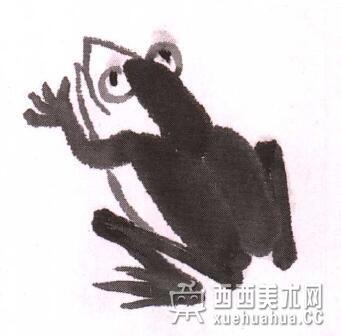 儿童水墨画青蛙的画法教程(6)