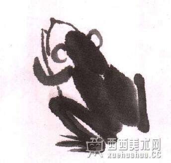儿童水墨画青蛙的画法教程(5)