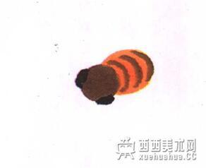 国画蜜蜂的儿童画画法教程(3)