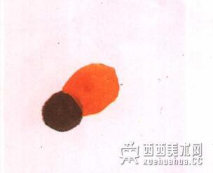 国画蜜蜂的儿童画画法教程(1)