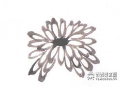 儿童学画画:国画菊花的画法(2)