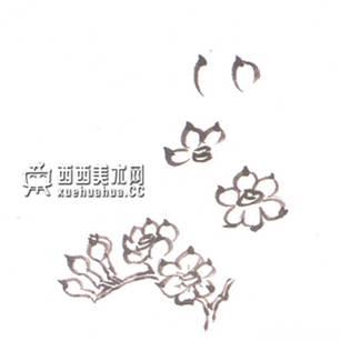 儿童水墨画水仙的画法(3)
