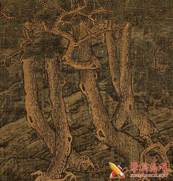 宋李唐国画山水名画《万壑松风图》鉴赏(2)