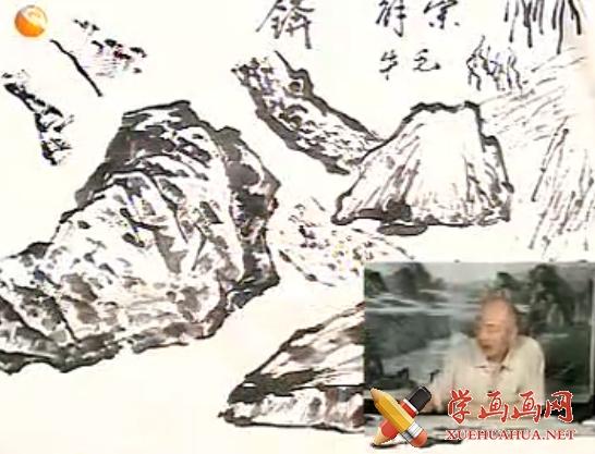 国画山水教程_树和石头的画法视频教程(1)