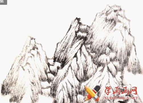国画山石画法教学(2)