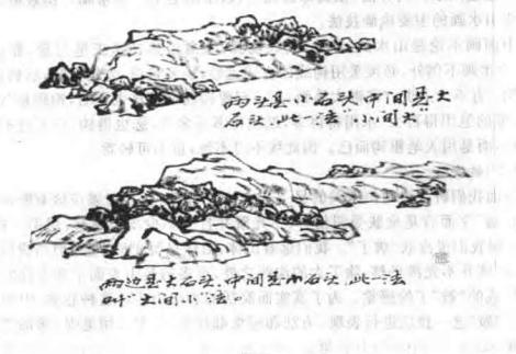 国画山石画法教学(3)