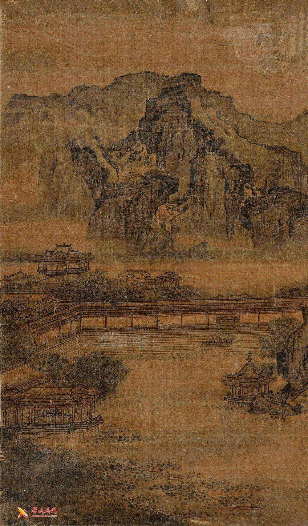 《消夏图》_宋李唐国画山水作品欣赏(1)