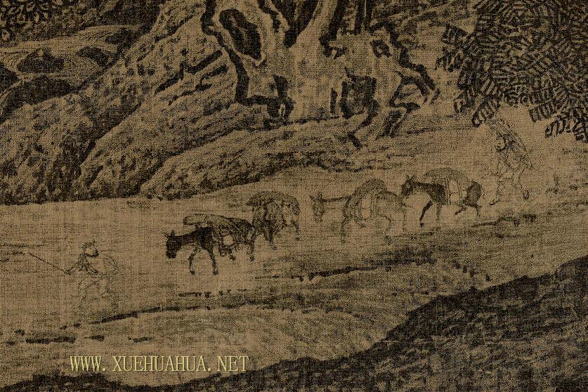 范宽《溪山行旅图》高清图片赏析(4)