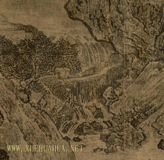 范宽《溪山行旅图》高清图片赏析(2)