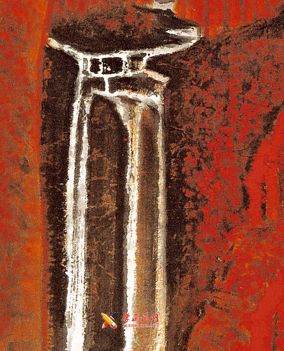 李可染画作《万山红遍》(4)
