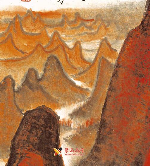 李可染画作《万山红遍》(5)