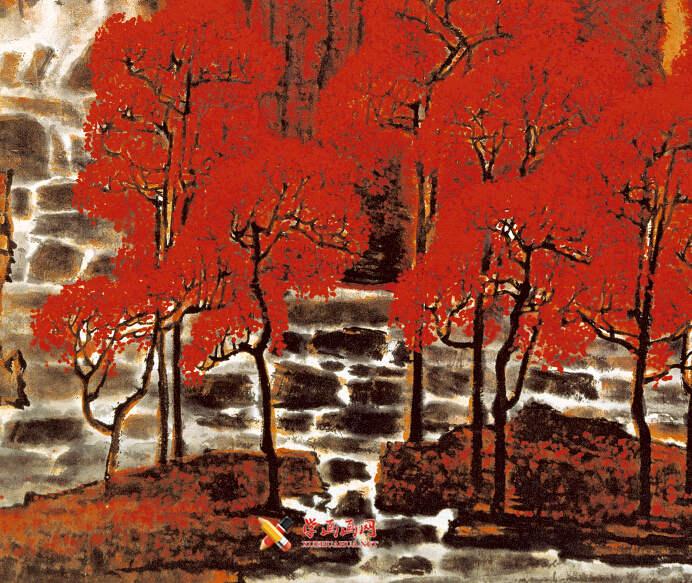 李可染画作《万山红遍》(6)