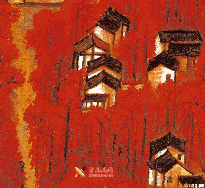 李可染画作《万山红遍》(7)