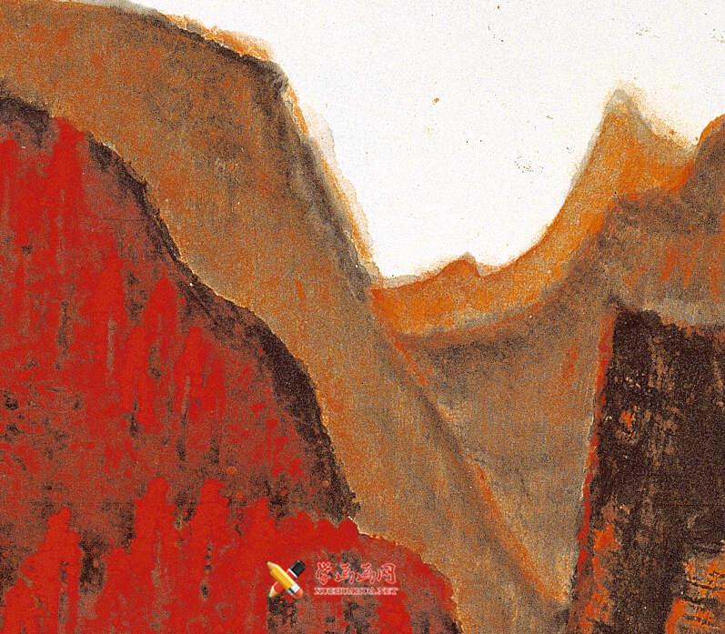 李可染画作《万山红遍》(8)