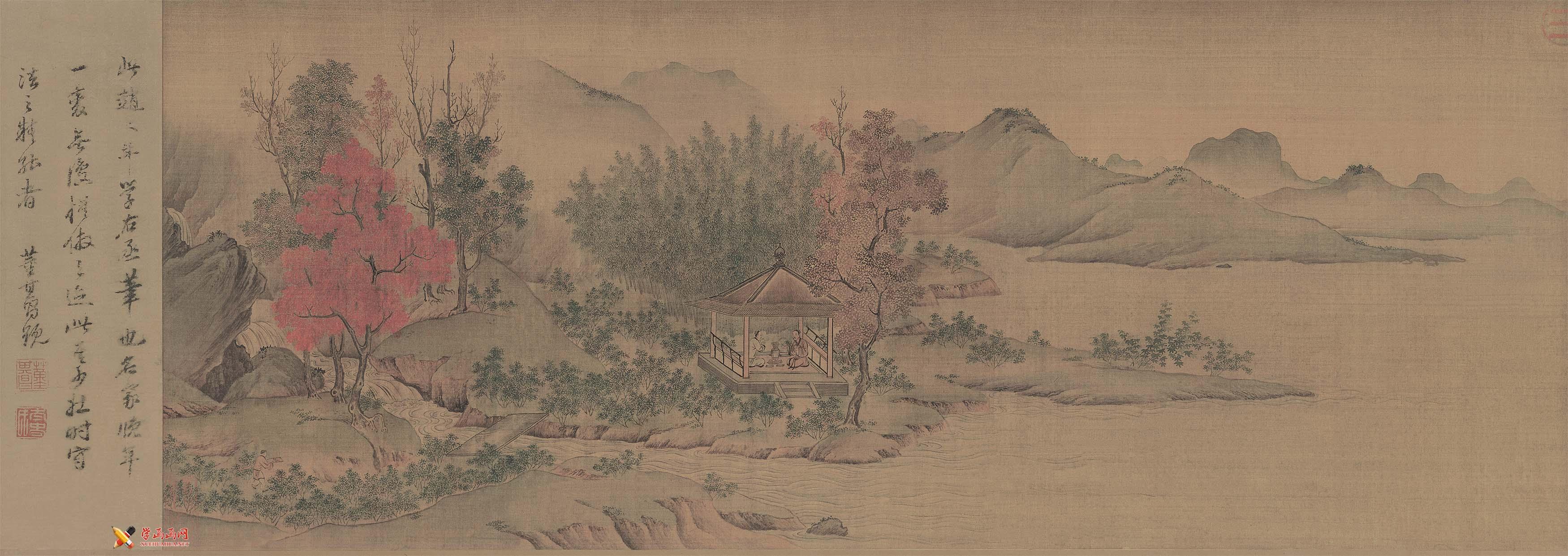 高清国画欣赏《陶潜赏菊图》(1)