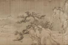 王诜国画作品《渔村小雪图卷》赏析