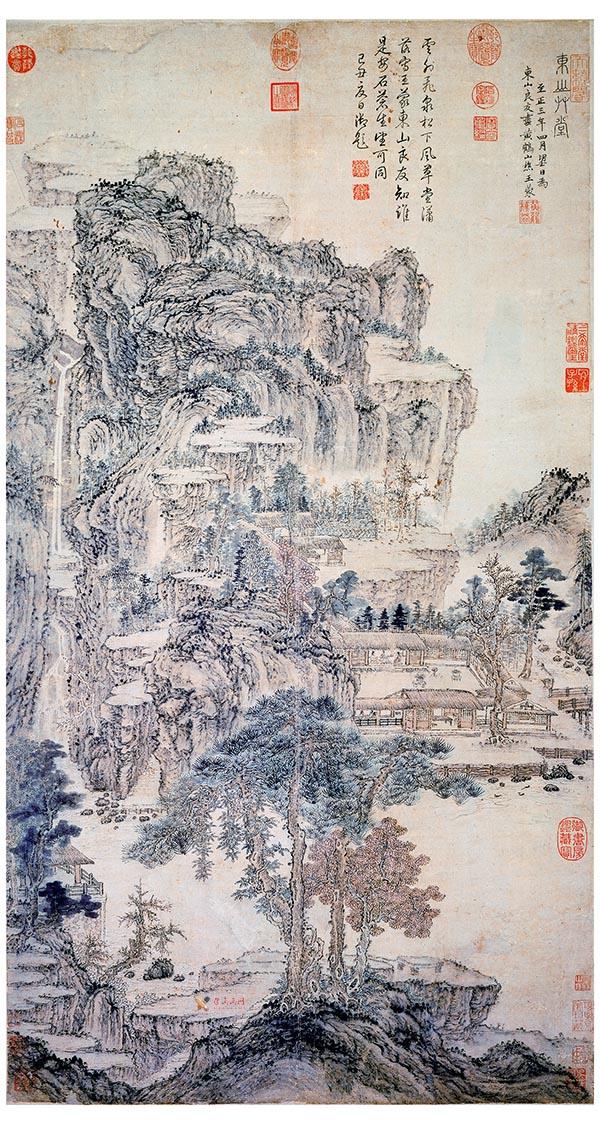 """高清国画赏析:""""元四家""""王蒙《东山草堂图》赏析(1)"""