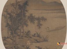 《秋溪放艇图》赏析_描绘古代隐士垂钓的绘画作品