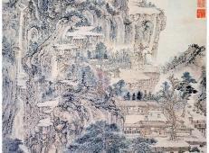 """高清国画赏析:""""元四家""""王蒙《东山草堂图》赏析"""