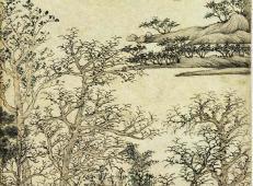 王蒙山水画作品《西郊草堂图》赏析
