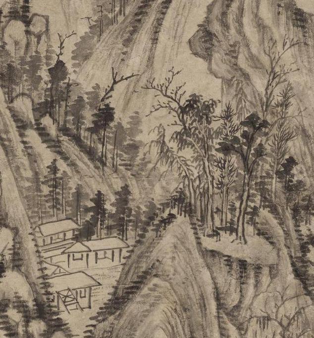 清画家王时敏《丛林曲调图》超高清图片在线欣赏(3)