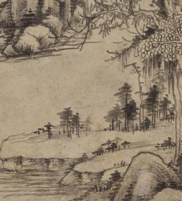 清画家王时敏《丛林曲调图》超高清图片在线欣赏(4)