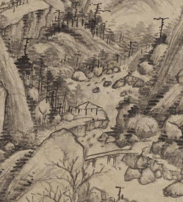 清画家王时敏《丛林曲调图》超高清图片在线欣赏(5)