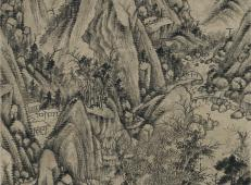 清画家王时敏《丛林曲调图》超高清图片在线欣赏