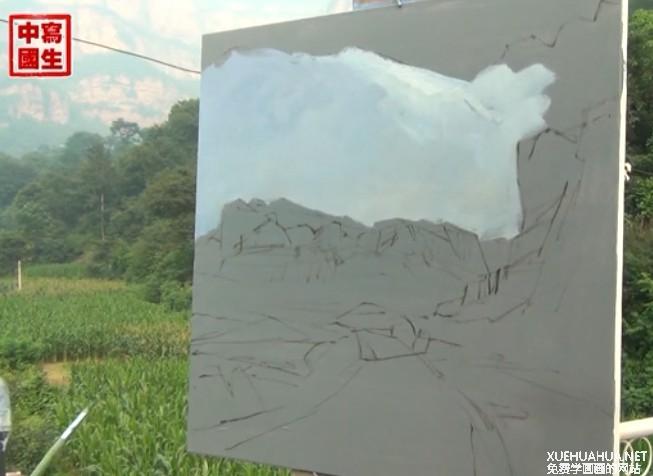 写生中国王辉老师风景油画视频教程