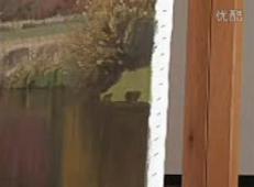 油画教程_国外大幅油画风景视频教程