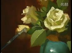 油画教程_静物花卉写生技法视频
