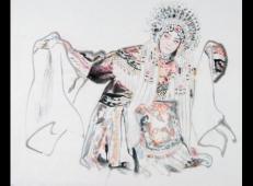 季仁葵的国画作品-《京剧人物》 (11).jpg