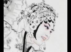 季仁葵的国画作品-《京剧人物》 (2).jpg