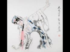 季仁葵的国画作品-《京剧人物》 (13).jpg