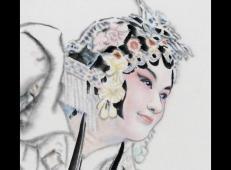 季仁葵的国画作品-《京剧人物》 (4).jpg