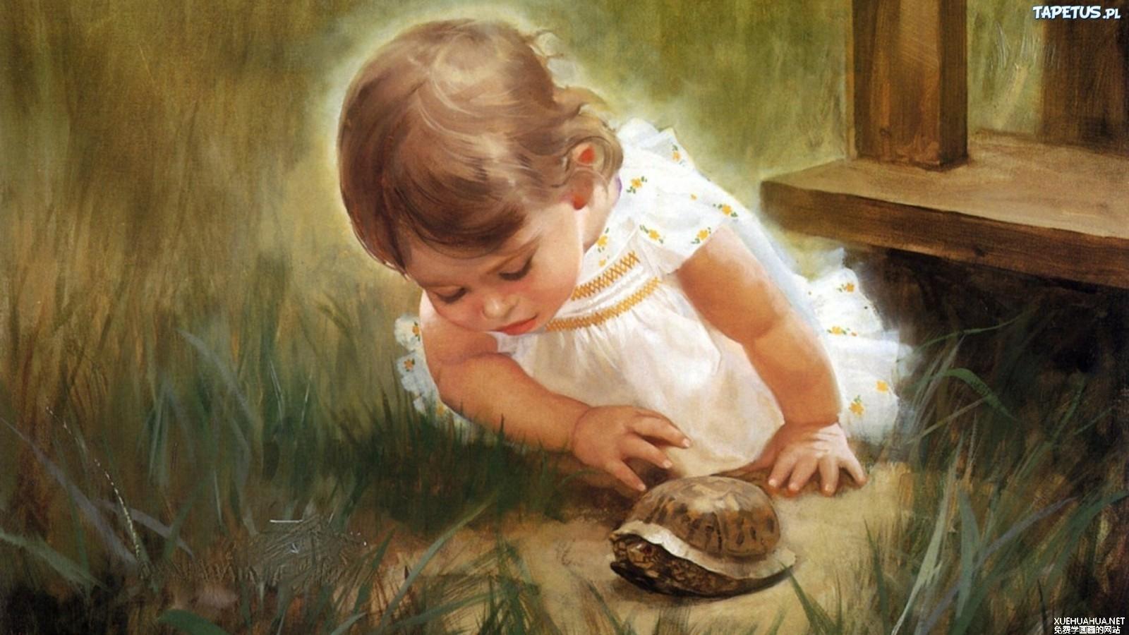 法国艺术家卓兰(Donald Zolan)儿童水彩画系列作品欣赏二