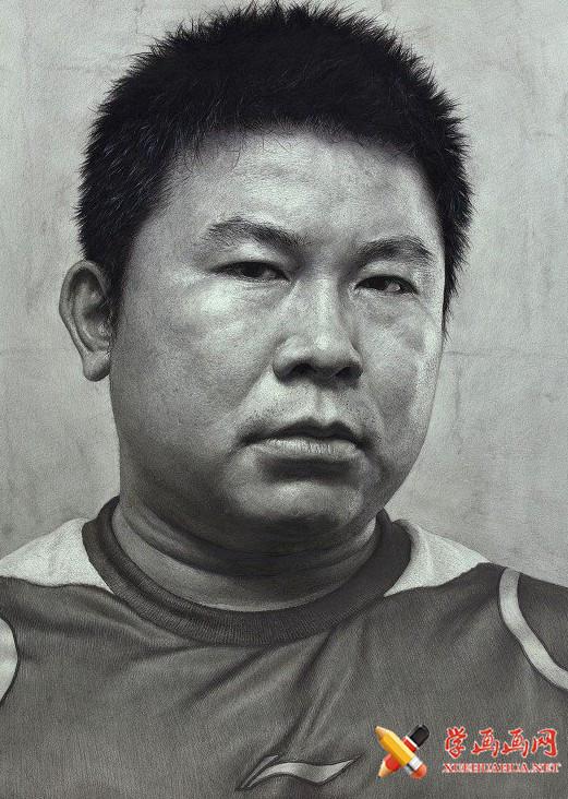 刘斌画室男性素描头像