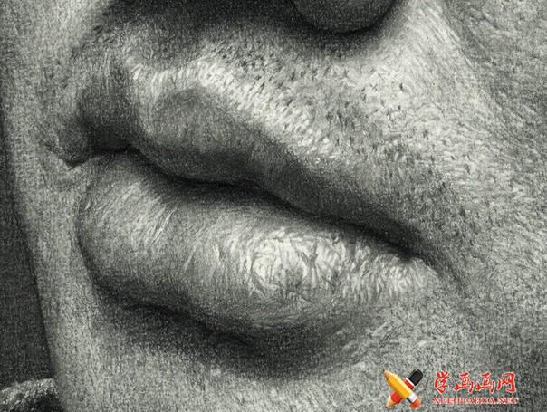 刘斌画室超写实素描头像欣赏