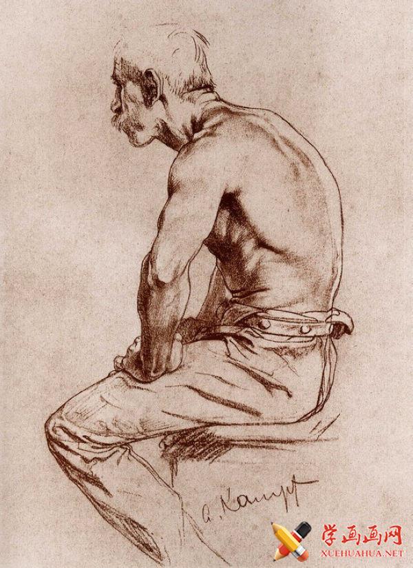 康勃夫(Arthur kampf)侧面男人坐姿