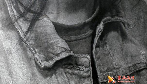 刘斌画室素描头像着装画法