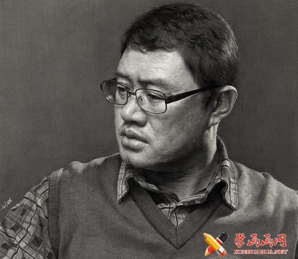 刘斌画室超写实素描头像