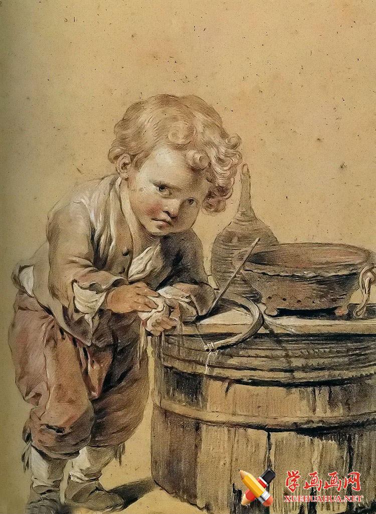让.巴蒂斯特.格勒兹农民小孩画像