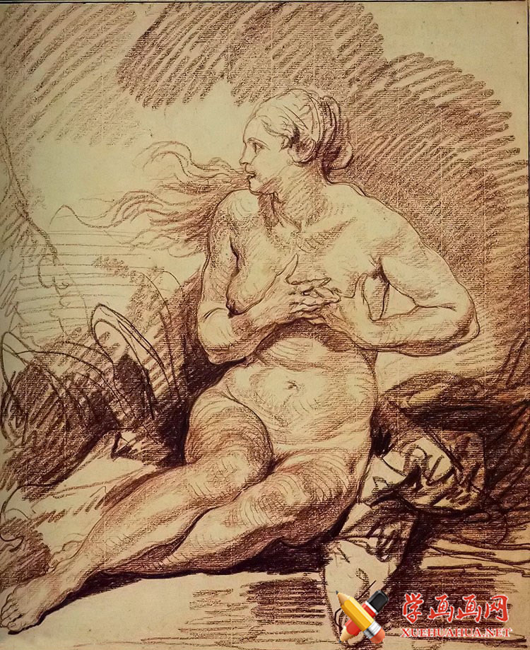让.巴蒂斯特.格勒兹素描人体