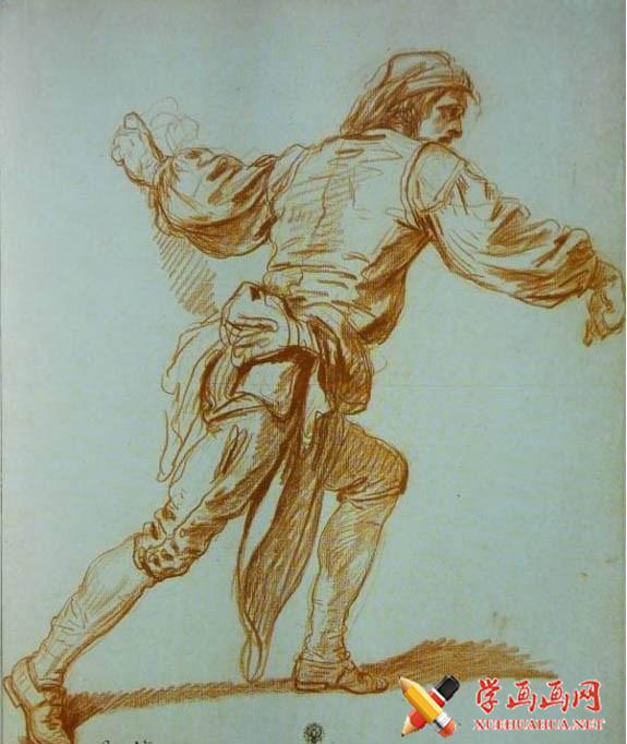 法国画家让.巴蒂斯特.格勒兹素描人像欣赏