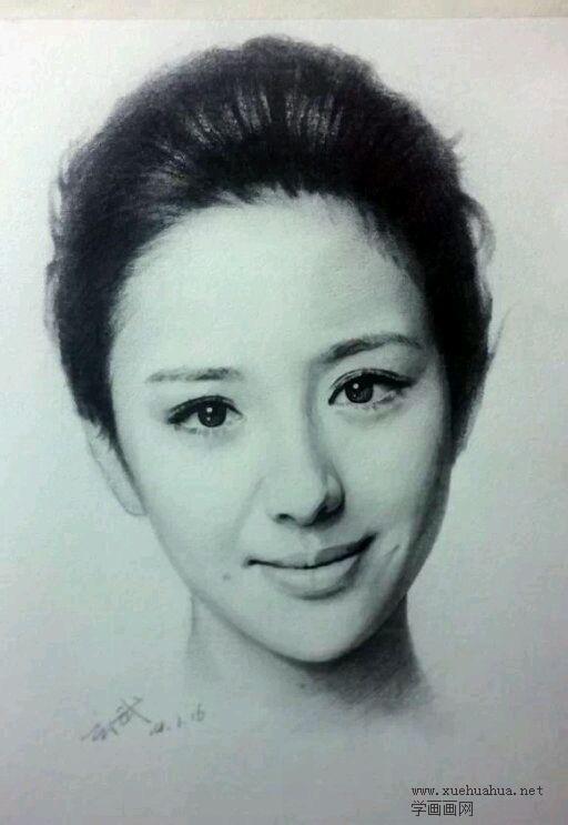 佟丽娅素描头像