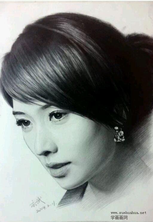 林志玲素描头像