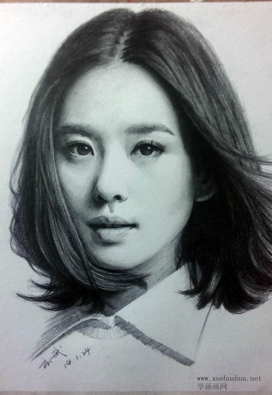刘诗诗素描头像