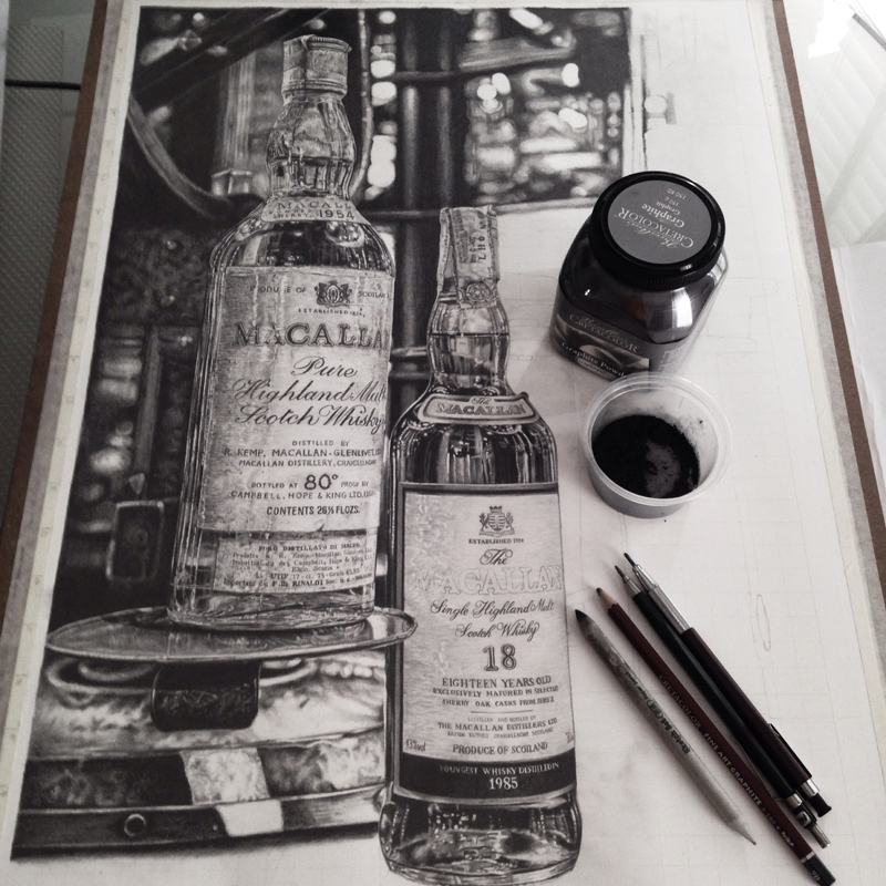 Monica Lee超写实素描作品欣赏-静物