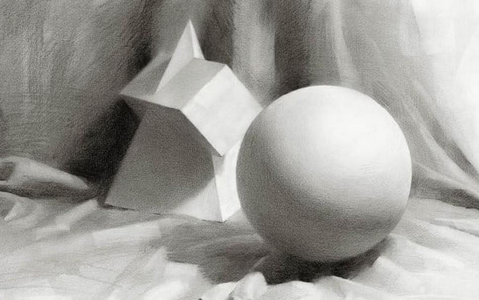 素描几何体石膏作品系列之三